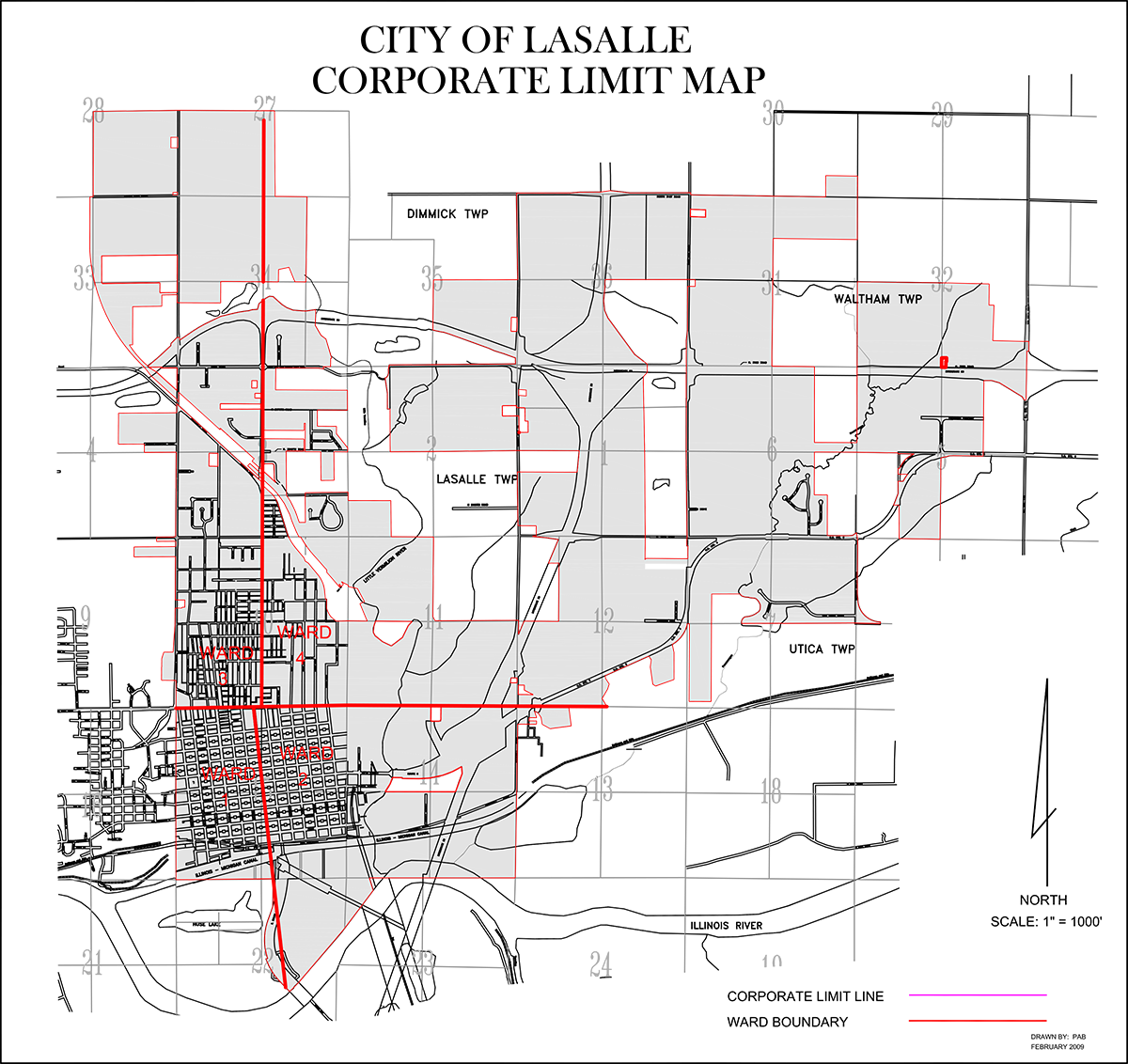 City of La Salle Ward Map
